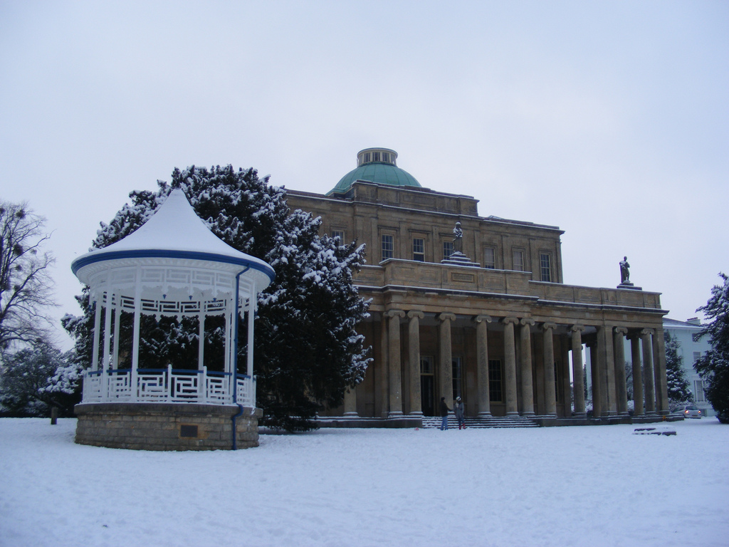Pittville Pump Room in Snow