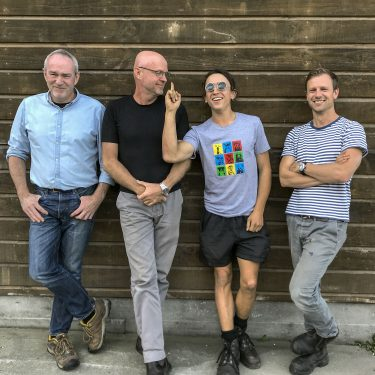 The Greywacke 2018 vintage crew, L-R: Kevin, his brother Steve, nephew Harry and winemaker Rich Ellis.